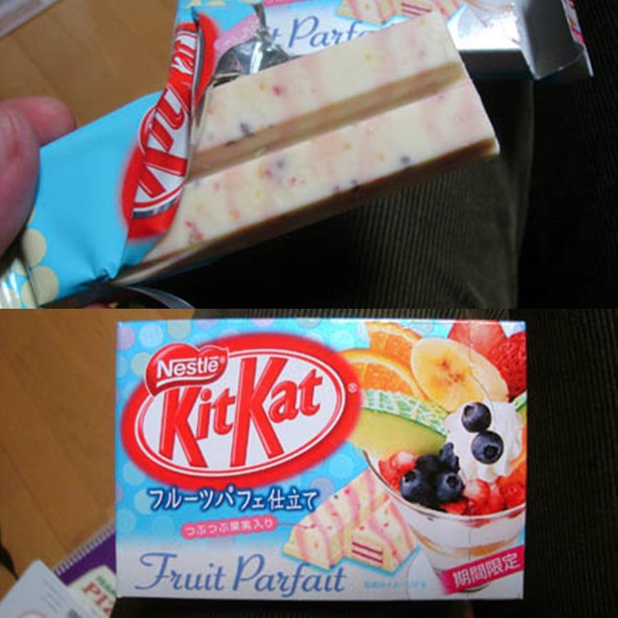 Kitkat Fruit Parfait