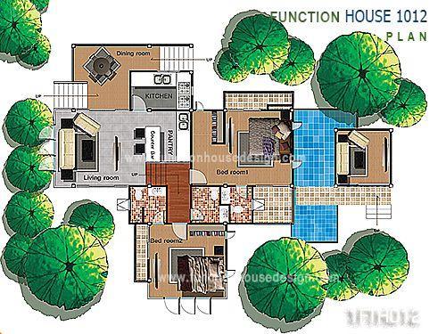 แบบบ้านชั้นครึ่งสไตล์รีสอร์ท 1FTH012