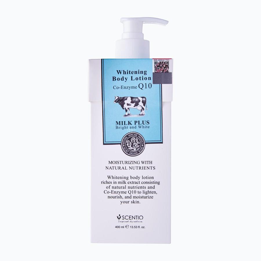 Scentio Milk Plus Whitening Q10 Body Lotion
