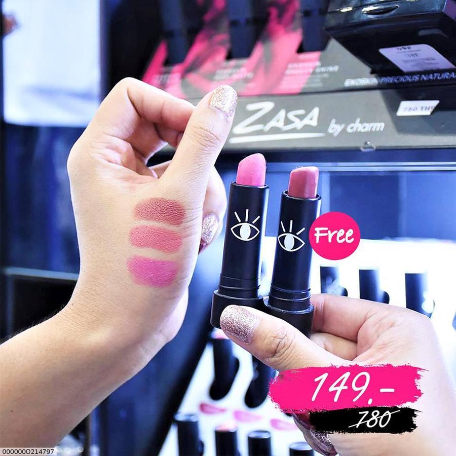 ซื้อ1แถม1) Boyfriend - Dare to dash lipstick  🏷ขนาด 3.6กรัม ซื้อ1แถม1 ในราคาเพียง 149บ. (เฉลี่ยชิ้นละ 74.5บ.) จากปกติราคา 780บ. สีที่ร่วมรายการได้แก่  Adam / Brad / Charlie /Taylor Mark /Sean / Harry / Coby Christ / Leo /Tommy Nial / Ralph / Zac